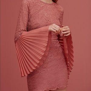 Keepsake Be The One Long Sleeve Dress Cinnamon